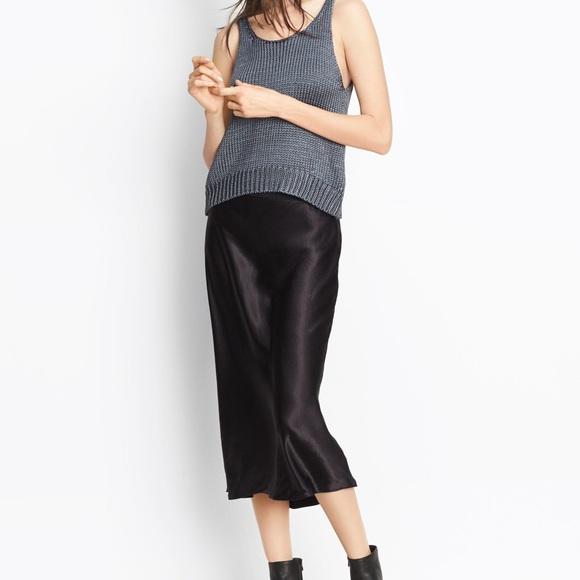 20bee2a15a Vince Skirts | Satin Midi Skirt | Poshmark